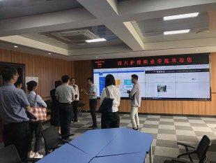 重庆护理学院副院长一行参观四川护理学院督导